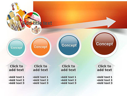 Paintbrushes PowerPoint Template Slide 13