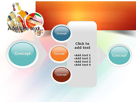 Paintbrushes PowerPoint Template Slide 17