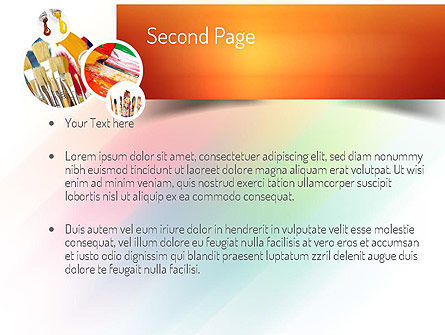 Paintbrushes PowerPoint Template, Slide 2, 11155, Art & Entertainment — PoweredTemplate.com