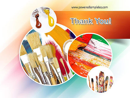 Paintbrushes PowerPoint Template Slide 20