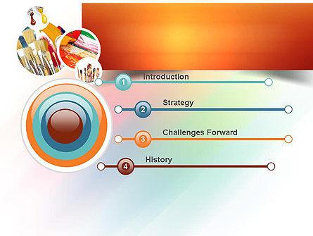 Paintbrushes PowerPoint Template, Slide 3, 11155, Art & Entertainment — PoweredTemplate.com