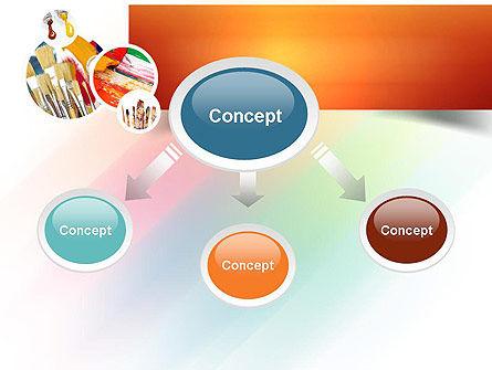 Paintbrushes PowerPoint Template, Slide 4, 11155, Art & Entertainment — PoweredTemplate.com