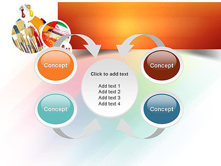 Paintbrushes PowerPoint Template Slide 6