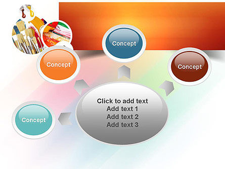 Paintbrushes PowerPoint Template Slide 7