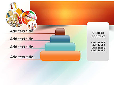 Paintbrushes PowerPoint Template Slide 8