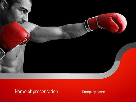 Sports: Kickboxer PowerPoint Template #11156