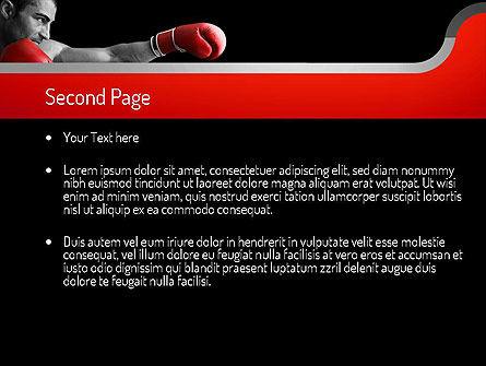 Kickboxer PowerPoint Template, Slide 2, 11156, Sports — PoweredTemplate.com
