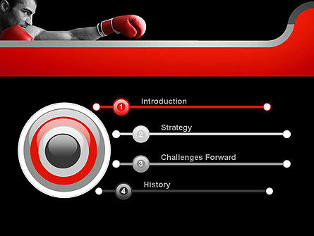 Kickboxer PowerPoint Template, Slide 3, 11156, Sports — PoweredTemplate.com