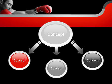 Kickboxer PowerPoint Template, Slide 4, 11156, Sports — PoweredTemplate.com