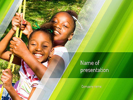 Happy Sisters PowerPoint Template, 11159, People — PoweredTemplate.com