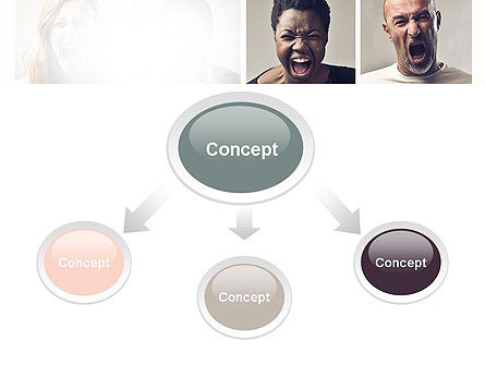 Screaming People PowerPoint Template Slide 4