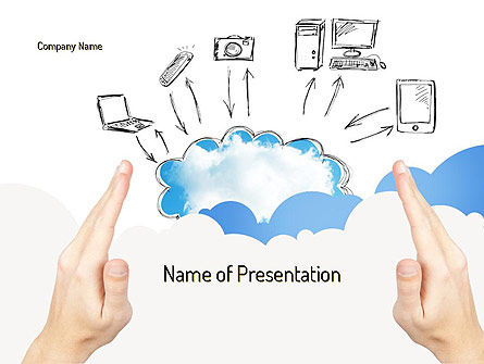 Cloud Technology PowerPoint Template, 11163, Technology and Science — PoweredTemplate.com