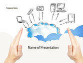 Technology and Science: Cloud Technology PowerPoint Template #11163