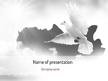 Religious/Spiritual: Flying Pigeon PowerPoint Template #11164
