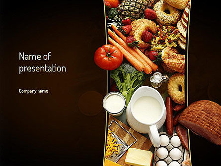 Plenty of Food PowerPoint Template, 11166, Food & Beverage — PoweredTemplate.com