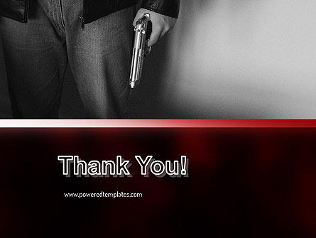 Man Holding a Gun PowerPoint Template Slide 20