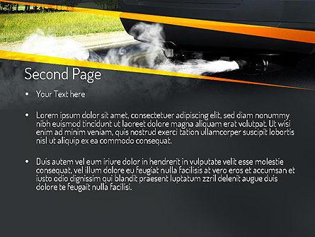 Car Exhaust PowerPoint Template, Slide 2, 11169, Nature & Environment — PoweredTemplate.com