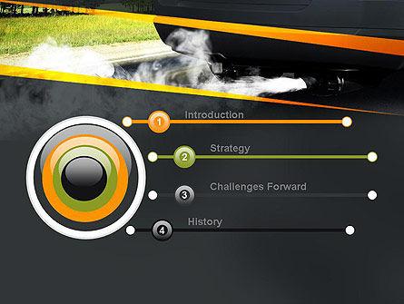 Car Exhaust PowerPoint Template, Slide 3, 11169, Nature & Environment — PoweredTemplate.com