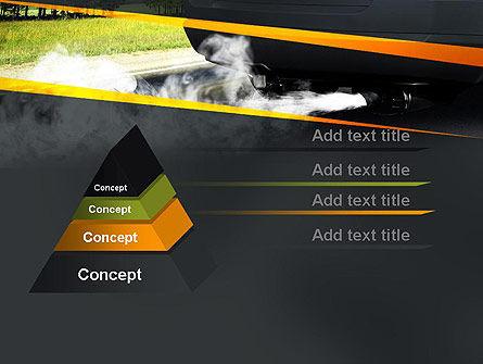 Car Exhaust PowerPoint Template, Slide 4, 11169, Nature & Environment — PoweredTemplate.com