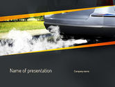 Nature & Environment: Car Exhaust PowerPoint Template #11169