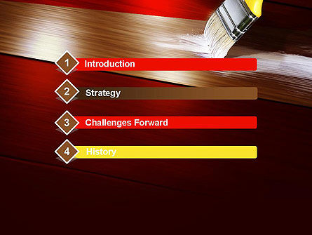 Painting Wood Floor PowerPoint Template Slide 3