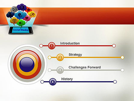 Social Media on Smartphone PowerPoint Template Slide 3