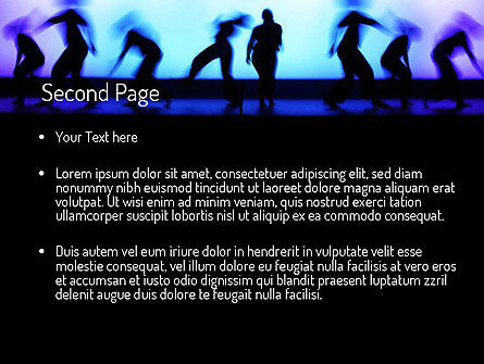 Dancing Silhouettes PowerPoint Template, Slide 2, 11178, Art & Entertainment — PoweredTemplate.com