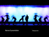 Art & Entertainment: Dancing Silhouettes PowerPoint Template #11178