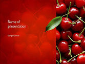 Agriculture: Cherries PowerPoint Template #11181