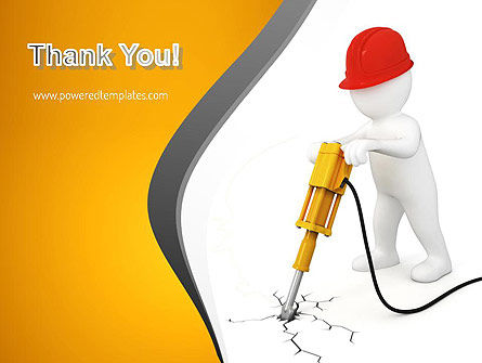 Jackhammer Worker PowerPoint Template Slide 20