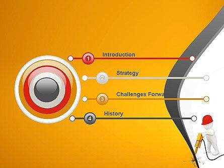 Jackhammer Worker PowerPoint Template, Slide 3, 11183, Construction — PoweredTemplate.com