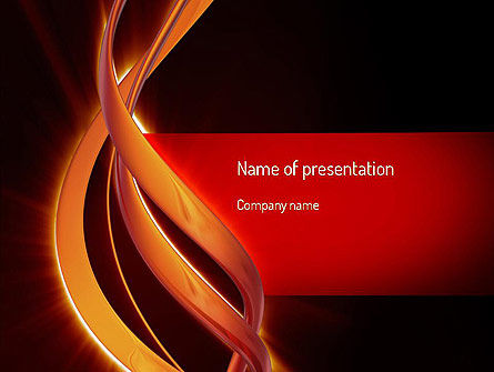 Abstract/Textures: Abstract Orange Lines PowerPoint Template #11184