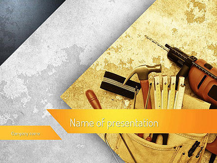 Utilities/Industrial: Construction Tools PowerPoint Template #11186