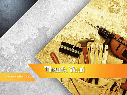 construction tools powerpoint template backgrounds