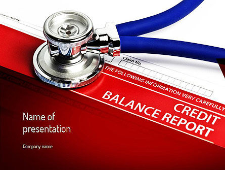 Credit Balance Report PowerPoint Template, 11187, Medical — PoweredTemplate.com