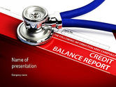 Medical: Credit Balance Report PowerPoint Template #11187