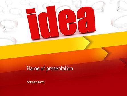 Idea with Arrows PowerPoint Template, 11189, Business Concepts — PoweredTemplate.com