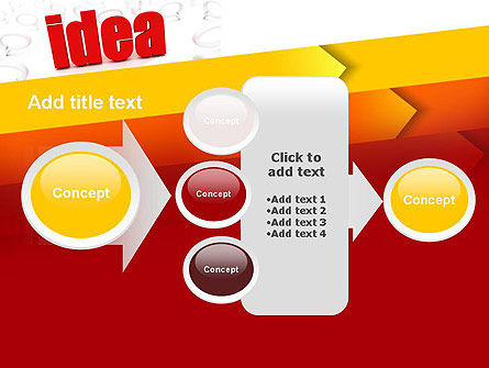 Idea with Arrows PowerPoint Template Slide 17