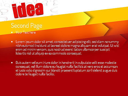 Idea with Arrows PowerPoint Template, Slide 2, 11189, Business Concepts — PoweredTemplate.com