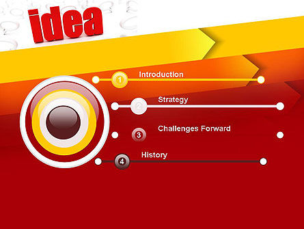 Idea with Arrows PowerPoint Template, Slide 3, 11189, Business Concepts — PoweredTemplate.com