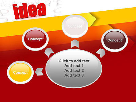 Idea with Arrows PowerPoint Template Slide 7