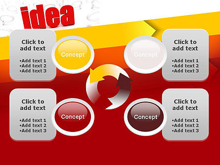 Idea with Arrows PowerPoint Template Slide 9