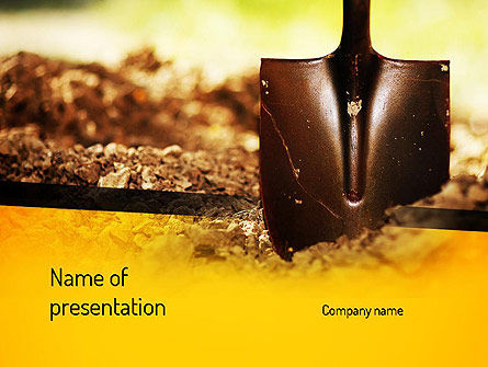 Utilities/Industrial: Shovel PowerPoint Template #11190