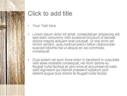 Old Board PowerPoint Template, Slide 3, 11191, Abstract/Textures — PoweredTemplate.com