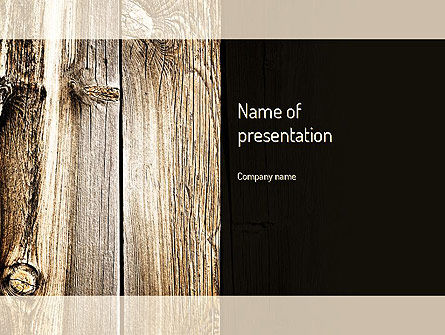 Abstract/Textures: Old Board PowerPoint Template #11191