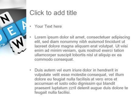 New Idea Crossword PowerPoint Template, Slide 3, 11192, Business Concepts — PoweredTemplate.com