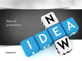 Business Concepts: Modello PowerPoint - Cruciverba nuova idea #11192