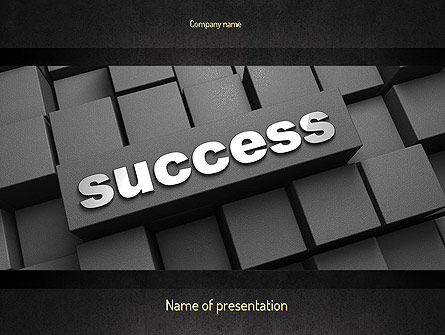 Success Tittle on a Block PowerPoint Template, 11194, Business Concepts — PoweredTemplate.com