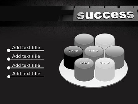 Success Tittle on a Block PowerPoint Template Slide 12