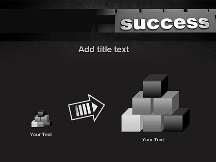 Success Tittle on a Block PowerPoint Template Slide 13
